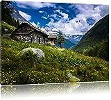 Blanc Mercedes Classe-S sur la toile, format XXL support en bois, Leinwand Format:120x80 cm