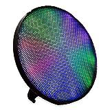 ION Audio Kabelloser Lautsprecher  - HELIOS BT Speaker mit LED Front (einfache Wandmontage möglich, eingebauter Ständer - Helle, mehrfarbige Lichtleiste mit 3 Leuchtmodi - Gerätekopplung via Bluetooth oder AUX) Schwarz
