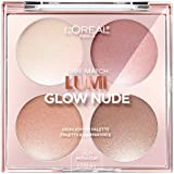 L'Oreal Paris Cosmetics True Match Lumi Glow Nude Highlighter Palette, Moon-Kissed, 0.26 Ounce