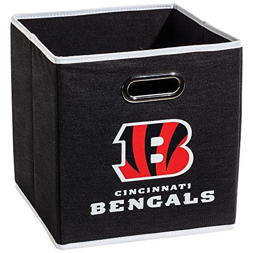 Franklin Sports NFL Team Stoff Aufbewahrungsbehälter–Made To Fit Lagerplatz Organisatoren (27,9x 26,7x 26,7cm), schwarz (Leinwand-storage-würfel)