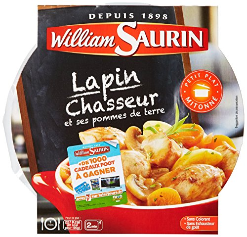 William Saurin L'Assiette Du Jour, lapin Chasseur & Ses Pommes de Terre 280 g - Lot de 4