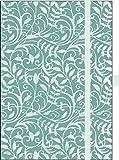 Premium Notes Big 'Aqua Leaf': Notizbuch mit hochwertiger Folienveredelung und Prägung