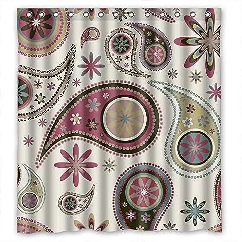 Dusche Fall von Paisley Retro Flower Polyester Breite x Höhe/167,6x 182,9cm/W H 168von 180cm beste Passform für Familie Kinder Mädchen Vater Ehemann Mädchen. Gesund. Stoff