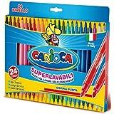 Carioca Birello Fine/Medium Multicolor 24pieza(s) - Rotulador (Fine/Medium, Multicolor, Punta redonda, 2,6 mm, 4,7 mm, Alrededor)