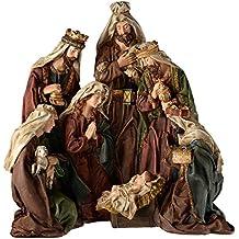 WeRChristmas Figura decorativa pintada a mano Portal de Belén de Navidad decoración, 50cm–grandes, Multicolor