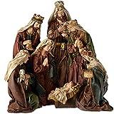 WeRChristmas-Figura Decorativa Pintada a Mano Portal de Belén de Navidad decoración, 50cm-Grandes, Multicolor
