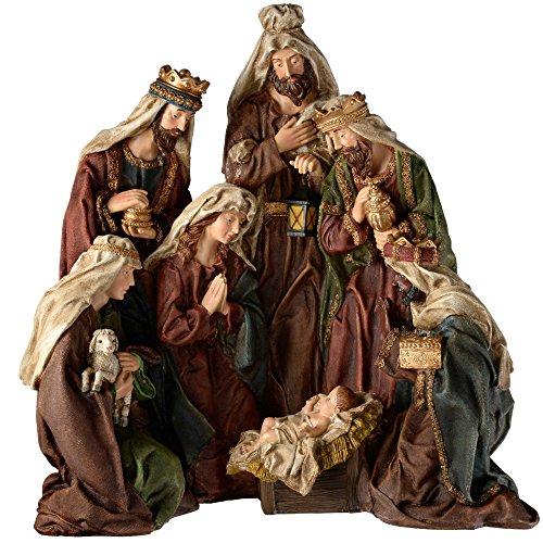 WeRChristmas–Figura decorativa pintada a mano Portal de Belén de Navidad decoración, 50cm–grandes,...