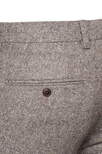 next Homme Pantalon en laine Donégal Grège