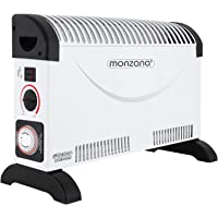 Deuba monzana Konvektor Elektroheizer 2000 W Frostwächter inkl. 24 Std. Timer 3 Heizstufen elektrisch Thermostat Heizer…
