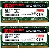 Komputerbay MACMEMORY 8GB (2x 4GB) DDR3 PC3-8500 1066MHz SODIMM 204-Pin Mémoire d'ordinateur portable pour Apple Mac