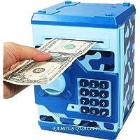 Famous Quality® Mini Piggy Bank Safe Box Money Coin ATM Bank Toy ATM Machine Kids Gift Money Box Digital Saving Boxes…