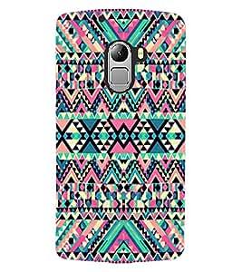 ColourCraft Tribal Pattern Design Back Case Cover for LENOVO A7010