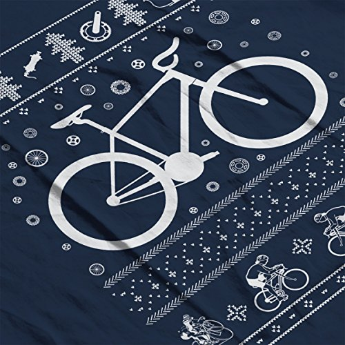 Bicycle Cycling Christmas Knit Women's Vest Navy blue