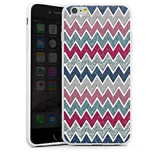 Apple iPhone X Silikon Hülle Case Schutzhülle Zickzack Muster Fein Silikon Case weiß