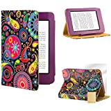 32nd® Design book wallet PU leather case cover for Amazon Kindle Fire HDX 8.9 inch, including screen protector and cloth - Jellyfish