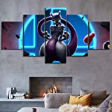 13Tdfc 5 Teilig Leinwand Wanddeko Pokemon Venusaur Charizard Blastoise Malerei Leinwanddrucke Geschenk 5 St/ück Leinwand Bilder Moderne Wandbilder XXL Wohnzimmer Wohnkultur 150X80Cm