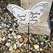 special dad resin butterfly grave side crematorium memorial sticks