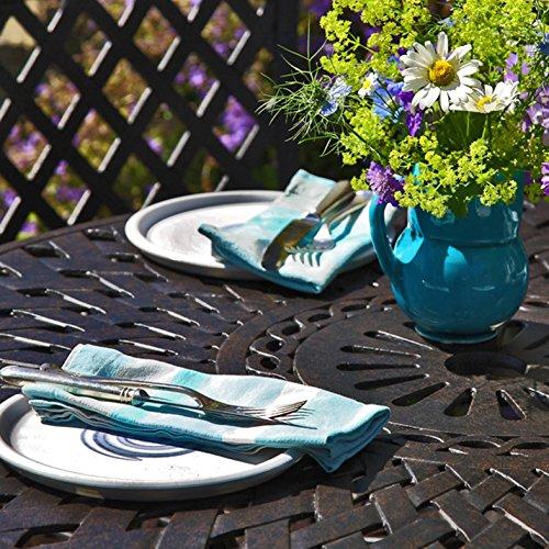 Lazy Susan – MIA 90 cm Gartentisch mit 2 Stühlen - 2