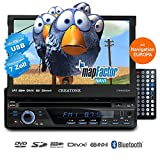 1DIN Autoradio CREATONE CTN-8423D26 mit GPS Navigation, Bluetooth, DVD-Player, Touchscreen und USB/SD-Funktion