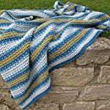 Campervan Blanket Crochet Kit - all-inclusive kit for a vintage-style crochet throw