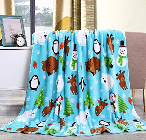 uch Urlaub Überwurf Fleece Decke (127x 152,4cm) Winter Friends ()