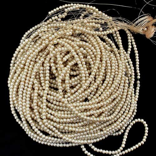 Ricamo perline in vetro e perle, per creare gioielli artigianali. 5 MM Infradito colorati estivi, con finte perline