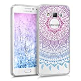 kwmobile Samsung Galaxy A3 (2015) Hülle - Handyhülle für Samsung Galaxy A3 (2015) - Handy Case in Blau Pink Transparent