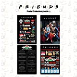 Mc Sid Razz Official ' Friends - TV Series' Gift Set/Birthday Gift/Rakhi Gift - Combo Pack of 4 Posters Without Frame ( Quotes + Things I've Learned + Infographic + on the Couch ) Licensed by Warner Bros.USA
