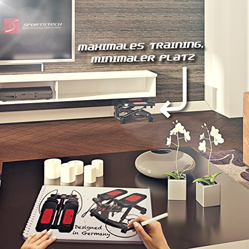 Sportstech 2in1 Twister Stepper mit Power Ropes – STX300 Drehstepper & Sidestepper für Anfänger & Fortgeschrittene, Up-Down-Stepper mit Multifunktions-Display, Hometrainer Widerstand einstellbar - 6