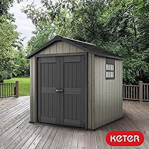 Keter oakland 7 ft 6 x 7 ft 2 3 x 2 2 m shed for Garden shed 7 x 3