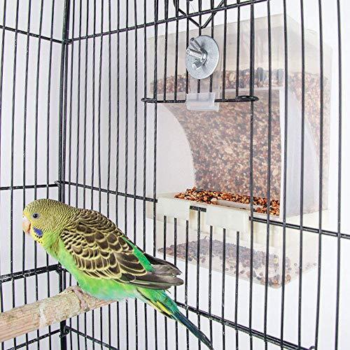 Old Tjikko Vogelfutterspender,Futterautomat zum Hängen,Vogelfutterhaus,Vogelfutterstation,No-Mess Bird Feeder,Parrot