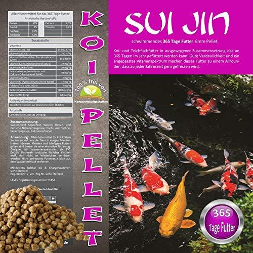 SUI JIN Teichprodukte Koi Pellet das Koifutter für 365 Tage als Koi Futter Fischfutter (15kg)