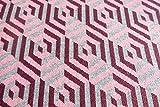 Bio 3 Farb Jacquard Jersey, Pink, Beere, Grau, grafisches