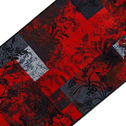 casa pura Teppichläufer mit modernem Design in brillianten Farben | hochwertige Meterware, gekettelt | Kurzflor Teppich Läufer | Küchenläufer, Flurläufer (80x500 cm)