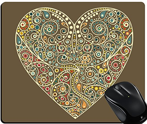 VeeDoo Designer Mouse Pad, Beautiful Heart Customized Rectangle Non-Slip Rubber Mousepad Gaming Mouse Pad
