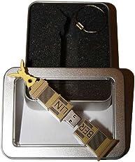 Souvenir Berlin | Geschenkidee: USB-Stick mit Schlüsselanhänger in Form der Siegessäule für Frauen & Männer | inklusive Fotogalerie von Berliner Sehenswürdigkeiten | Memory Stick 8 GB | CultourStix