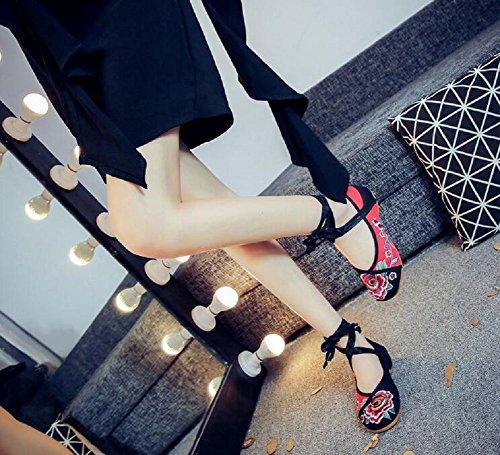 Lazutom , Chaussures de ville à lacets pour femme Noir