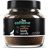 mCaffeine Naked & Raw Coffee Body Scrub, 100 g | Coconut | Tan Removal | Oily/Normal Skin | Paraben & SLS Free