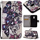 GHC-CASES-7 GHC Hüllen & Holster, für Motorola Moto G4 Play (2016), 3D Glitter Painted Design PU-Leder Folio Flip Case Wallet Stand Cover (Pattern : 5)