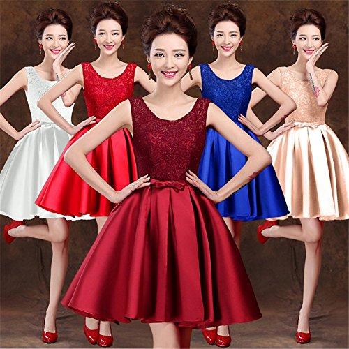 Drasawee Damen A-Linie Kleid Rose