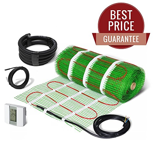 Elektro-fußbodenheizung Kabel (Elektrische Fußbodenheizung, Heizmatte selbstklebend Kit 200W/m2–lebenslange Garantie.)