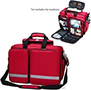 First Response Trauma Bag First Aid Empty Kit Bag, for Emergencies at Home, Outdoors, Car, Camping, Workplace, Hiking & Survi