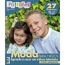 """Revista patrones de costura infantil, nº 3. Moda Otoño-Inviervo, 27 modelos de patrones, """" niña, niño """" Talla 1 a 10 años. Cutting instructions."""