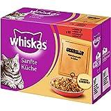 Whiskas Sanfte Küche Katzenfutter gegrilltes Fleisch, 48 Beutel (4 x 12 x 85 g)