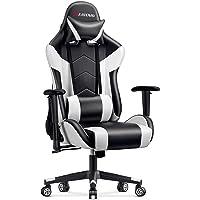 MFAVOUR Siège Gamer Blanc, Chaise Gaming en Cuir,Chaise de Bureau Pivotante, Fauteuil Gaming Ergonomique avec Appui-tête…