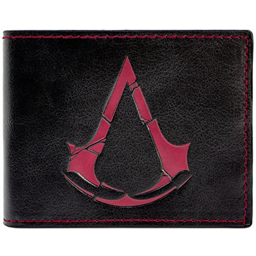 Ubisoft Assassins Creed Rogue Symbol Schwarz Portemonnaie Geldbörse -