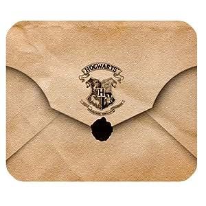 Customstyle Mouse Pads Tapis de souris rectangulaire Motif Harry Potter enveloppe parchemin