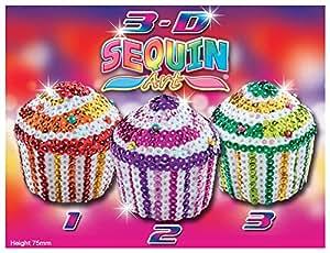Sequin Art 3D Trio Cupcakes