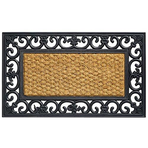 Kölle Kokos-Fußmatte mit Gummirand, rechteckig, 45x75 cm