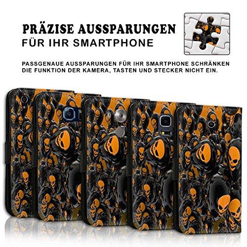Wallet Book Style Flip Handy Tasche Case Schutz Hülle Schale Motiv Etui für Apple iPhone 5 / 5S - Variante UMV5 Design12 Design 5